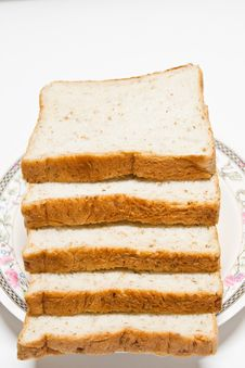 Sliced Of Whole Wheat Bread Royalty Free Stock Photos