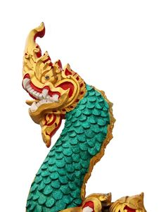 Free Golden Naga Statue In Thailand Temple Stock Images - 18775184