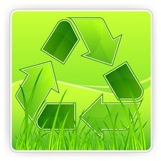Free Recycle & Grass Stock Photography - 18775492