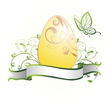 Free Easter Background With Butterfly Stock Photos - 18776933