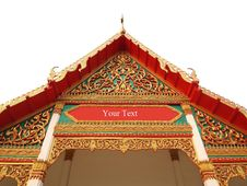 The Roof Gable On Temple For Buddhist In Thailand Stock Photos