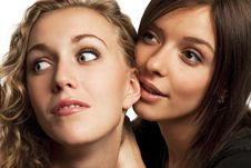 Free Girlfriends Sharing Their Secrets Stock Photography - 18778112