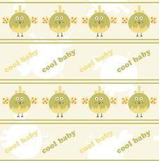 Seamless Pattern With Bird Royalty Free Stock Photos