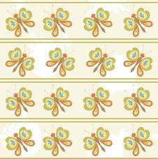 Free Seamless Pattern With Butterfly Royalty Free Stock Image - 18778866