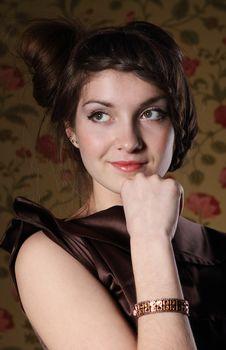 Free Portrait Of The Beautiful Stylish Brunette Woman Stock Photos - 18779303