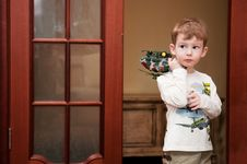 Free Little Boy With Toy Helicopter Royalty Free Stock Photography - 18779737