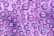 Free Water Drops And Words Stock Photography - 18779912