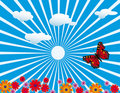 Free Red Butterfly On Meadow Stock Images - 18783394