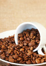 Free Cup Filled With Coffee Beans Royalty Free Stock Images - 18784649