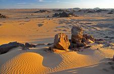 Free Desert Landscape At Sunset Stock Photos - 18781023