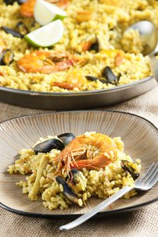 Free Paella With Seafood Stock Image - 18781571