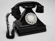 Free Retro Phone Render Royalty Free Stock Image - 18781966