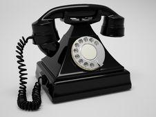 Free Retro Phone Render Royalty Free Stock Image - 18781966