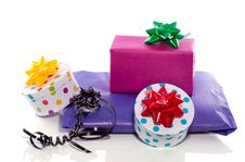 Free Colorfully Decorated Gifts Royalty Free Stock Photo - 18782455
