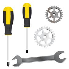 Free A Set Of Tools Stock Image - 18783251