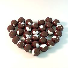 Beads In Heart Shape Stock Image