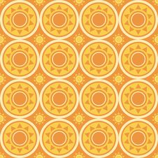 Free Abstract Suns Pattern Royalty Free Stock Photos - 18784178