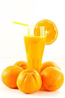 Free Fresh Orange Juice Royalty Free Stock Photo - 18784345