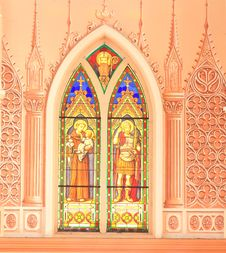 Inside Of Gothic Style Church, East Of Thailand Royalty Free Stock Photography