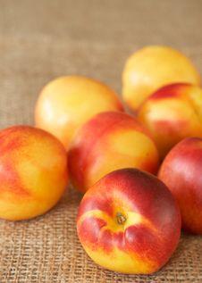 Bunch Of Ripe Nectarine Peaches Royalty Free Stock Image