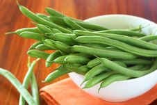 Free Green Beans In A Bowl Royalty Free Stock Images - 18784639