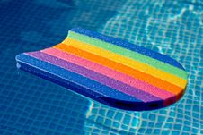 Free Water Board In A Blue Pool Stock Image - 18784681