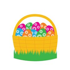 Free Easter Basket Stock Photography - 18787492