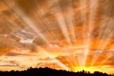 Free Sun Beam At Sunset Royalty Free Stock Photography - 18788017