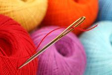 Free Needle Thread Royalty Free Stock Photo - 18788645