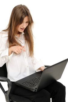 Free Woman With Laptop Stock Images - 18789064