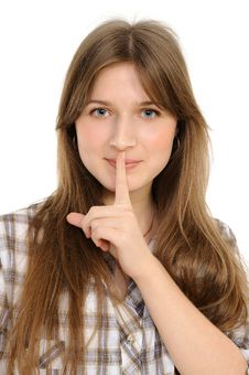 Free Woman Says Ssshhh To Maintain Silence Stock Photography - 18789152