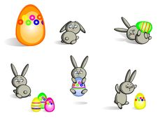 Free Easter Bunnies Isolated Royalty Free Stock Photos - 18789268