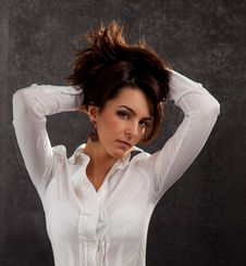 Free Portrait Of An Attractive Woman Stock Photography - 18789272