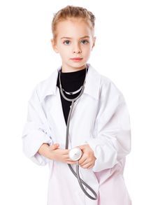 Free A Girl Is Dressed As Doctor Royalty Free Stock Photos - 18789328