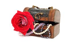 Treasure Chest With Jewelry Stock Images
