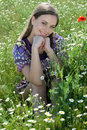 Free Girl In Daisy Field Royalty Free Stock Images - 18790469