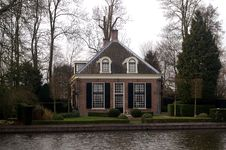 Villa At The River Vecht Stock Photography