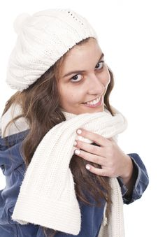 Free Woman With A Scarf Stock Photo - 18790800