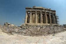 Free Parthenon, Fish-eye Stock Photography - 18791382