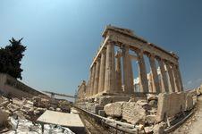 Free Parthenon, Fish-eye Royalty Free Stock Image - 18791426