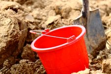Free Bucket And  Shovel Royalty Free Stock Photography - 18792787