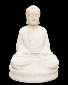 Free Seated Buddha Isolated On Black Stock Photos - 18793053