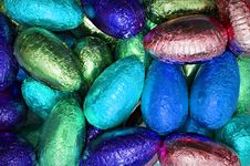 Free Shiny Easter Eggs Royalty Free Stock Photos - 18795448