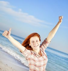 Free Beautiful Young Woman On The Beach Stock Photo - 18795640
