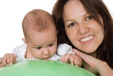 Free Newborn With Her Mother Stock Photography - 18795842