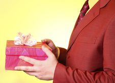 Free Boy With Present Box Royalty Free Stock Photo - 18795885