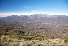 Autumn Valley At Gredos Stock Photography