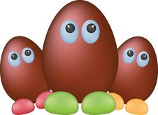 Free Chocolate Funny Eggs Stock Photo - 18796080