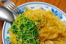 Healthy Vegetarian Dumpling Noodles Royalty Free Stock Photo