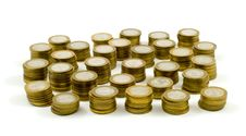Free Columns From Coins Royalty Free Stock Images - 18796409